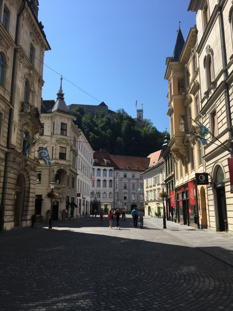 Street leading up to the castle