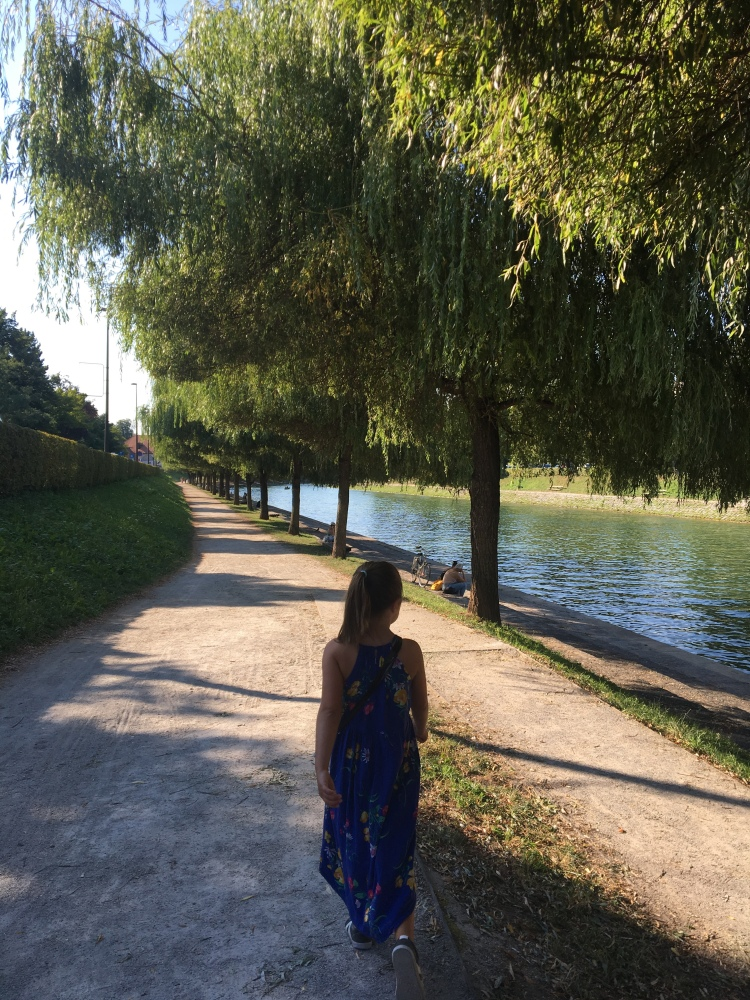 The walk along the river into town