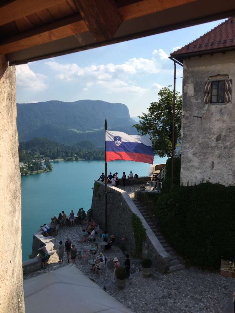 View of the lake from the castle